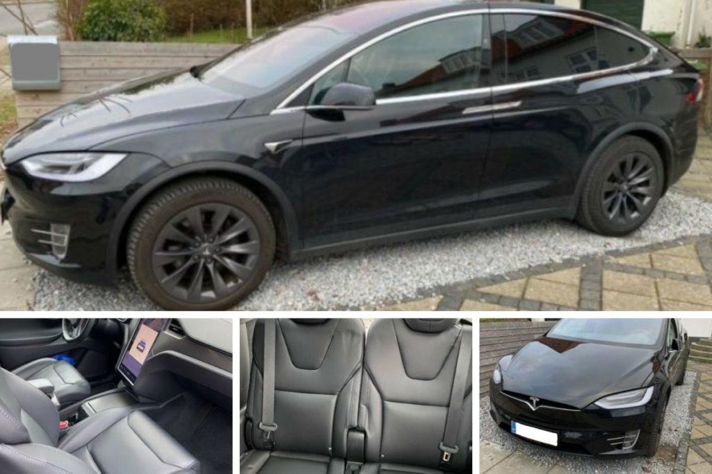 Billede af Tesla model x fra forskellige vinkler